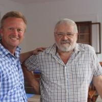 Unser Ehrenmitglied Sepp Holzer-Florian Ryba mit Ehrenmitglied Sepp Holzer